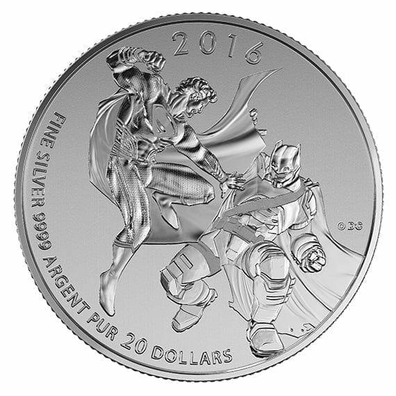 2016 Batman v Superman: Dawn of Justice 1/4oz .9999 Silver Coin $20 - Royal Canadian Mint 6
