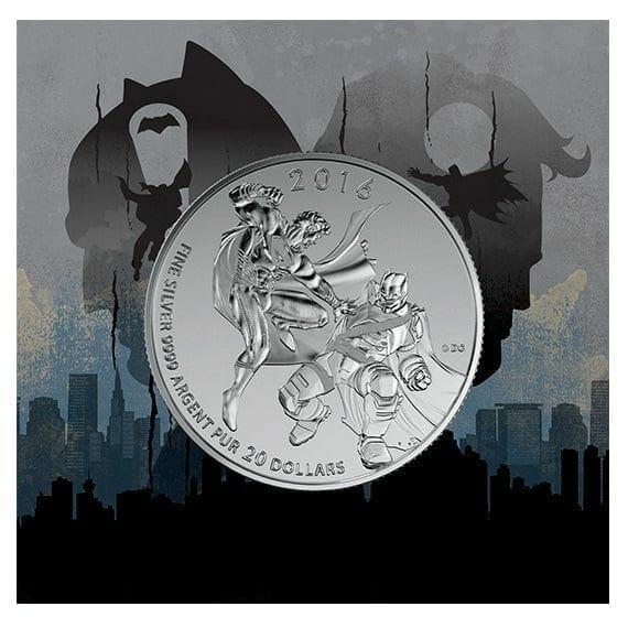2016 Batman v Superman: Dawn of Justice 1/4oz .9999 Silver Coin $20 - Royal Canadian Mint 1