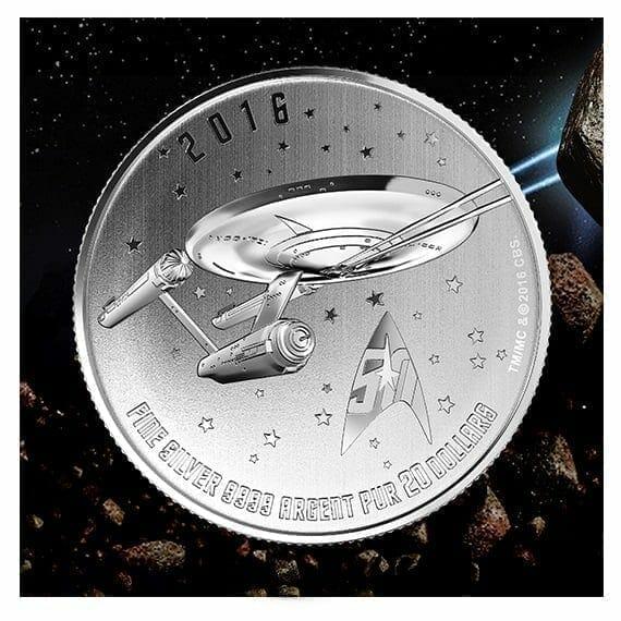 2016 Star Trek Enterprise $20 1/4oz .9999 Silver Coin - Royal Canadian Mint 1