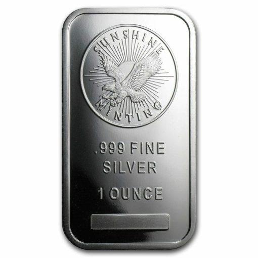 Sunshine Minting 1oz .999 Silver Minted Bullion Bar 1