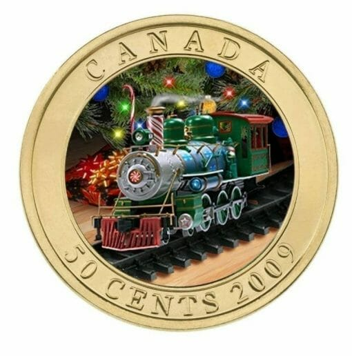 2009 50c Holiday Toy Train Coin - Lenticular / Hologram Coin - Royal Canadian Mint 1