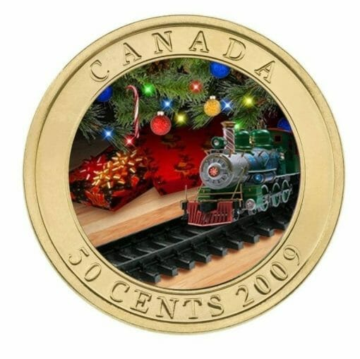 2009 50c Holiday Toy Train Coin - Lenticular / Hologram Coin - Royal Canadian Mint 2