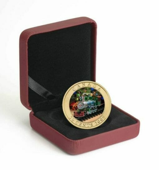 2009 50c Holiday Toy Train Coin - Lenticular / Hologram Coin - Royal Canadian Mint 4
