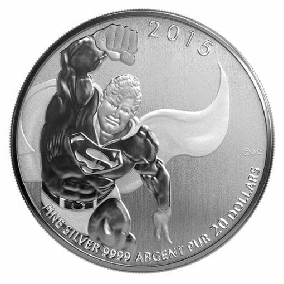 2015 DC Comics Originals - Superman 1/4oz .9999 Silver Coin $20 - Royal Canadian Mint 2