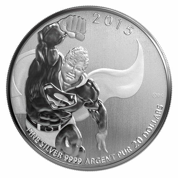 2015 DC Comics Originals - Superman 1/4oz .9999 Silver Coin $20 - Royal Canadian Mint 4