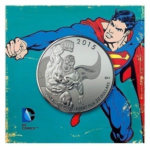 2015 DC Comics Originals - Superman 1/4oz .9999 Silver Coin $20 - Royal Canadian Mint 1