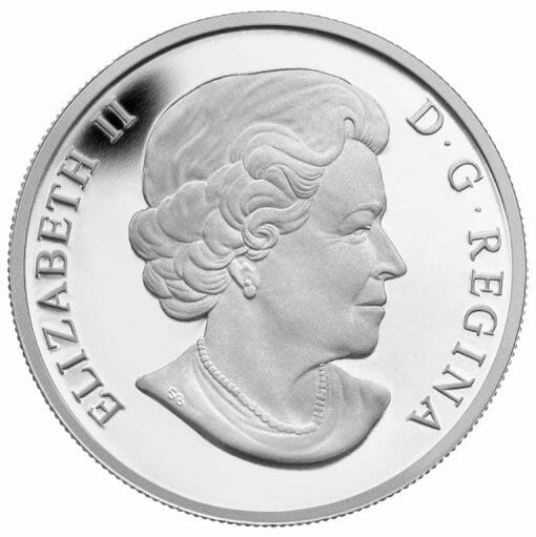 2014 $20 Soaring Bald Eagle 1oz .9999 Silver Coin - Royal Canadian Mint 3