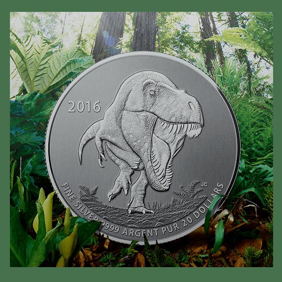 2016 - Fine Silver Coin – Tyrannosaurus rex