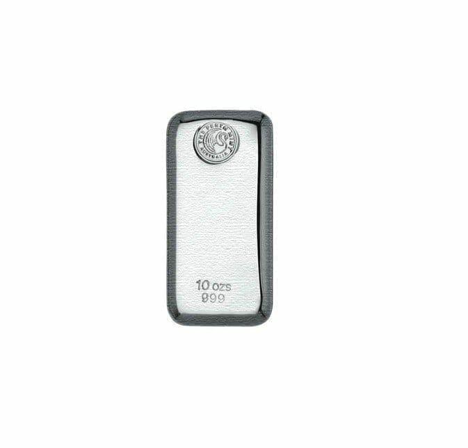 Perth Mint 10oz .999 Silver Cast Bullion Bar 2