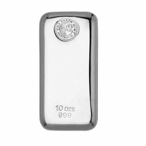 Perth Mint 10oz .999 Silver Cast Bullion Bar 1