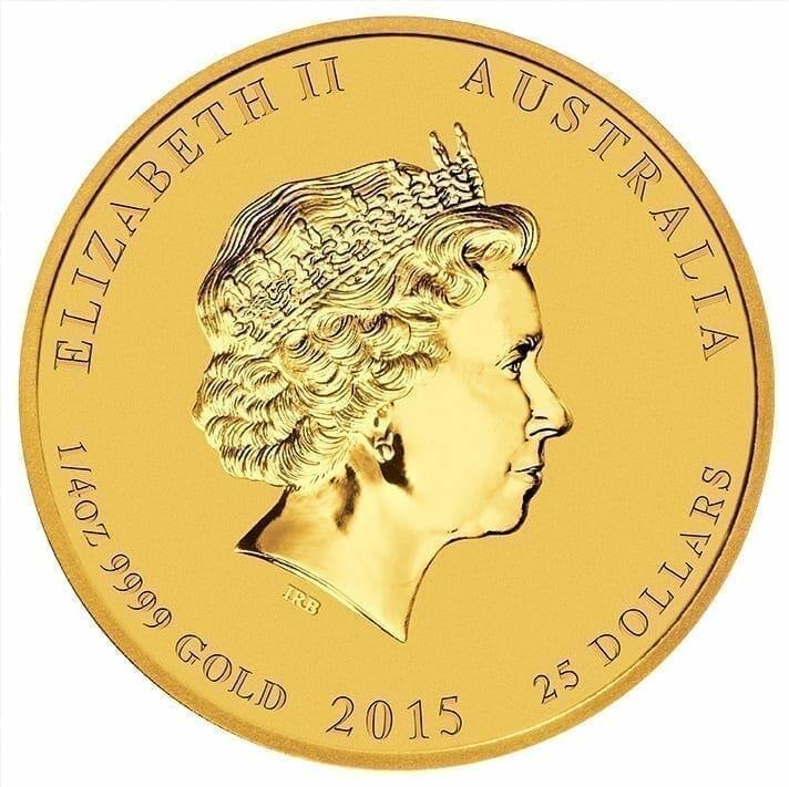 2015 Year of the Goat 1/4oz .9999 Gold Bullion Coin - Lunar Series II 5