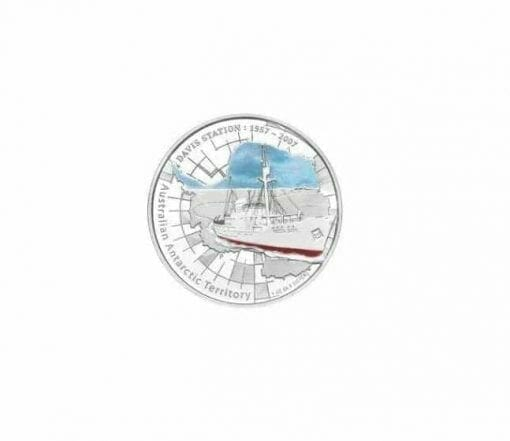 1957 - 2007 Australian Antarctic Territory - Davis Station - 1oz .999 Silver Proof Coin - Perth Mint 1