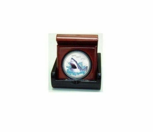 2007 Deadly and Dangerous - Great White Shark 1oz .999 Silver Proof Coin - Perth Mint 2