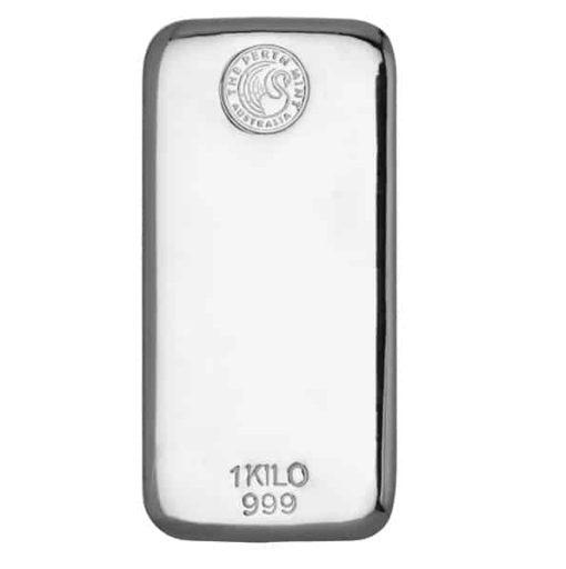 Perth Mint 1kg .999 Silver Cast Bullion Bar 1