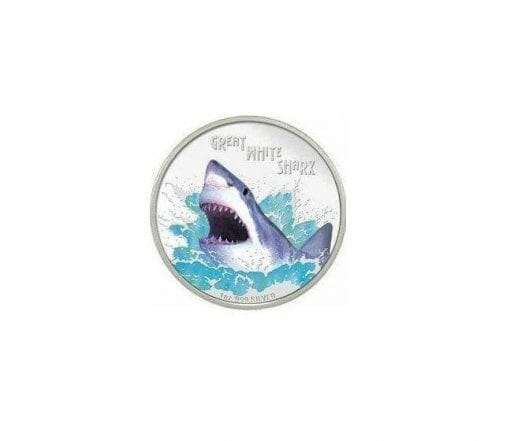 2007 Deadly and Dangerous - Great White Shark - 1oz .999 Silver Proof Coin - Perth Mint 1