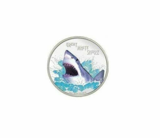 2007 Deadly and Dangerous - Great White Shark 1oz .999 Silver Proof Coin - Perth Mint 1