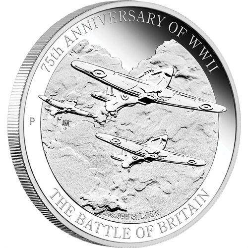 75th Anniversary of WWII – The Battle of Britain 2015 1oz Silver Proof Coin - The Perth Mint 999 & 9999