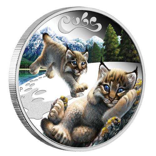 2016 The Cubs - Lynx Cubs 1/2oz Silver Proof Coin - The Perth Mint 999 & 9999
