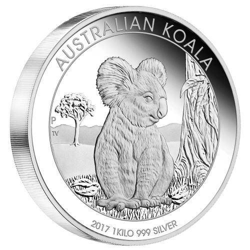 2017 Australian Koala 1 Kilo Silver Proof Coin - The Perth Mint 999 & 9999