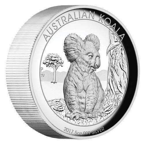 2017 Australian Koala 5oz Silver Proof High Relief Coin - The Perth Mint 999 & 9999
