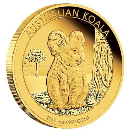 2017 Gold Proof Koala Coin Series – 5oz Coin - The Perth Mint 9999