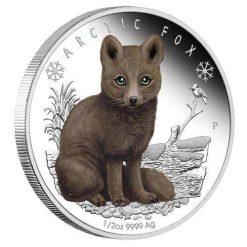 2017 Polar Babies - Arctic Fox 1/2oz Silver Proof Coin  - The Perth Mint 999 & 9999