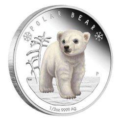 2017 Polar Babies - Polar Bear 1/2oz Silver Proof Coin - The Perth Mint 999 & 9999