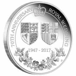 70th Anniversary of the Royal Wedding 1oz Silver Proof Coin - The Perth Mint 999 & 9999