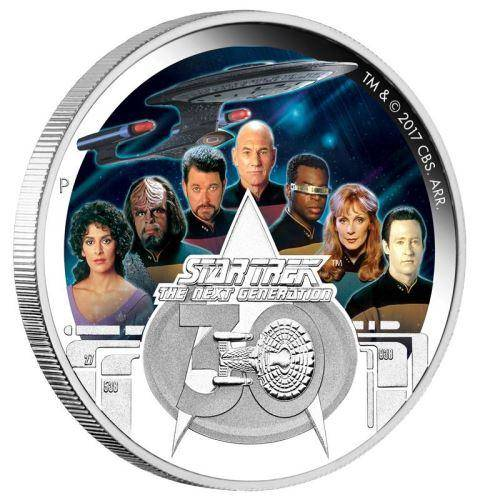 Star Trek: The Next Generation Crew 30th Anniversary 2017 2oz Silver Proof Coin - The Perth Mint 999 & 9999