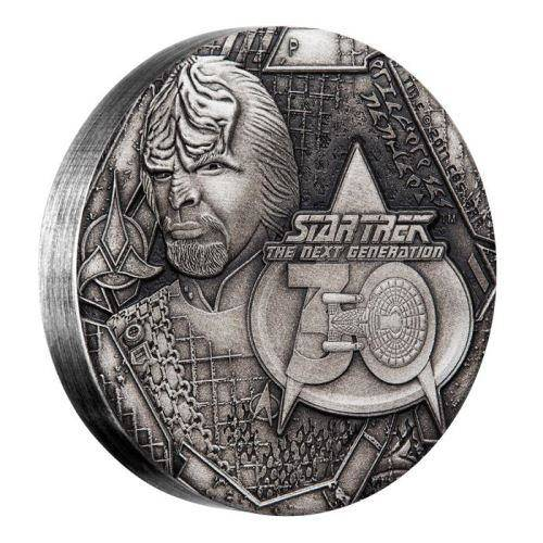 Star Trek: The Next Generation Worf 2017 2oz Silver Antique Coin - The Perth Mint 999 & 9999