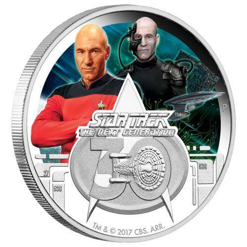 Star Trek: The Next Generation 30th Anniversary 2017 1oz Silver Proof Coin  - The Perth Mint 999 & 9999