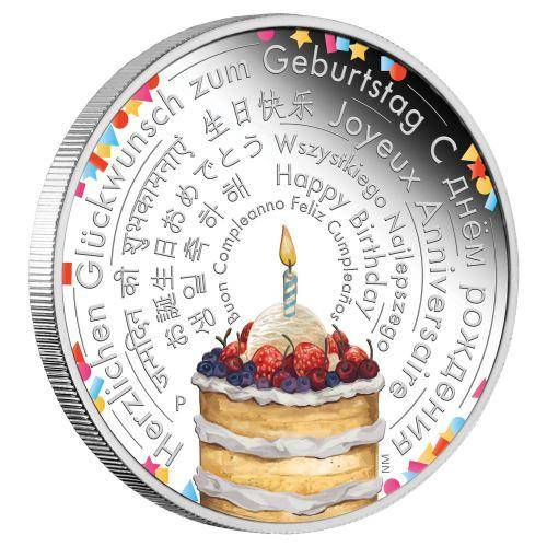 2018 Birthday Wishes 2oz Silver Proof Coin - The Perth Mint 999 & 9999