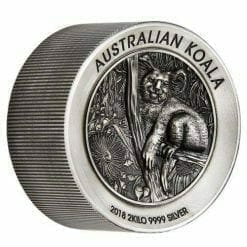 2018 Australian Koala 2 Kilo Silver Antique High Relief Coin - The Perth Mint 999 & 9999