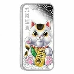 Lucky Cat 2018 1oz Silver Proof Coin - The Perth Mint 999 & 9999