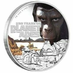 Planet of the Apes 50th Anniversary 2018 1oz Silver Proof Coin - The Perth Mint 999 & 9999