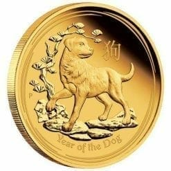 2018 Year of the Dog - 1/10 oz - Gold Coin - The Perth Mint 9999