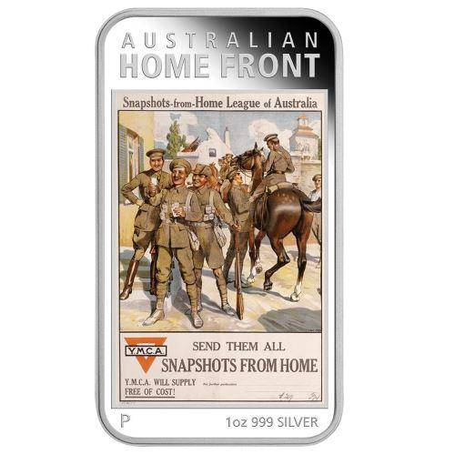 Australian Posters of WWI - Home League 2017 1oz Silver Proof Coin - The Perth Mint 999 & 9999