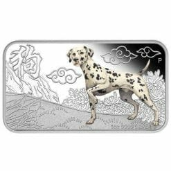 2018 Year of the Dog 1oz Silver Rectangle Four-Coin Set - The Perth Mint 999 & 9999
