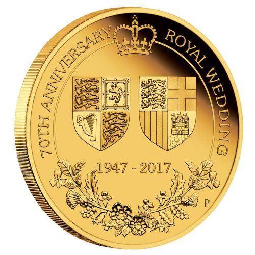 70th Anniversary of the Royal Wedding 1/4oz Gold Proof Coin - The Perth Mint 9999