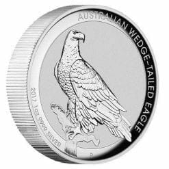 2017 Australian Wedge-Tailed Eagle 1oz Silver Proof High Relief Coin - The Perth Mint 999 & 9999