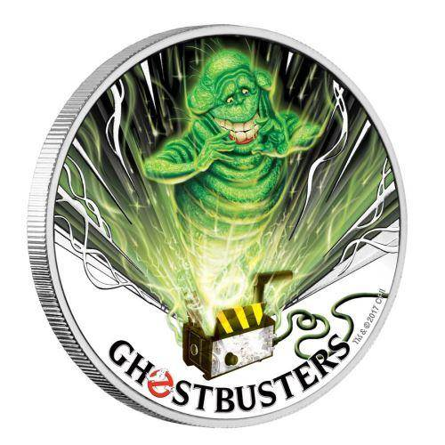 2017 Ghostbusters Slimer 1oz Silver Coin - The Perth Mint 999 & 9999