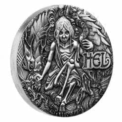 2017 Norse Goddesses – Hel 2oz Silver Antiqued High Relief Coin - The Perth Mint 999 & 9999