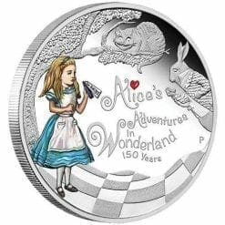 150th Anniversary of Alice's Adventures in Wonderland 2015 1oz Silver Proof Coin - The Perth Mint 999 & 9999
