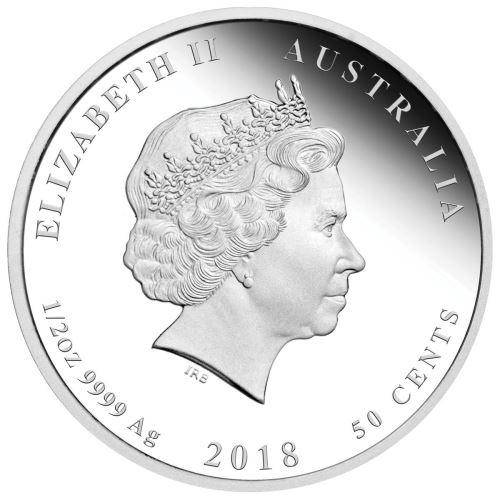 2018 Year of the Dog - 1/2 oz - Silver Coin - The Perth Mint 999 & 9999