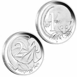 2016 50th Anniversary of Australian Decimal Currency 1oz Silver Proof Two-Coin Set - The Perth Mint 999 & 9999