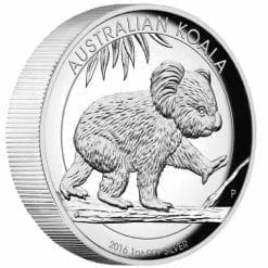 2016 Australian Koala 1oz Silver Proof High Relief Coin - The Perth Mint 999 & 9999