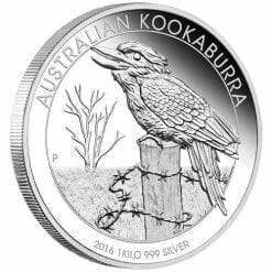 2016 Australian Kookaburra 1 Kilo Silver Proof Coin - The Perth Mint 999 & 9999