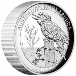 2016 Australian Kookaburra 5oz Silver Proof High Relief Coin - The Perth Mint 999 & 9999