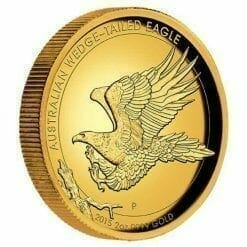 2015 Australian Wedge-Tailed Eagle 2oz Gold Proof High Relief Coin - The Perth Mint 9999