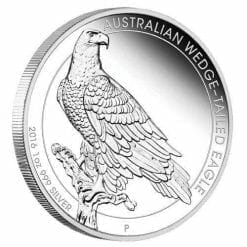 2016 Australian Wedge-Tailed Eagle 1oz Silver Proof Coin - The Perth Mint 999 & 9999